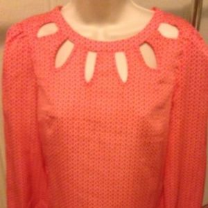 MOON COLLECTION Anthropology  Salmon Pink Top